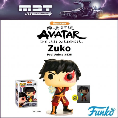 Funko Pop - Avatar - Zuko Glow #838 Exclusivo