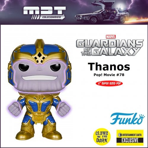 "Funko Pop - Guardians of the Galaxy - Thanos #78 6"" GLOWS EE Exclusive"