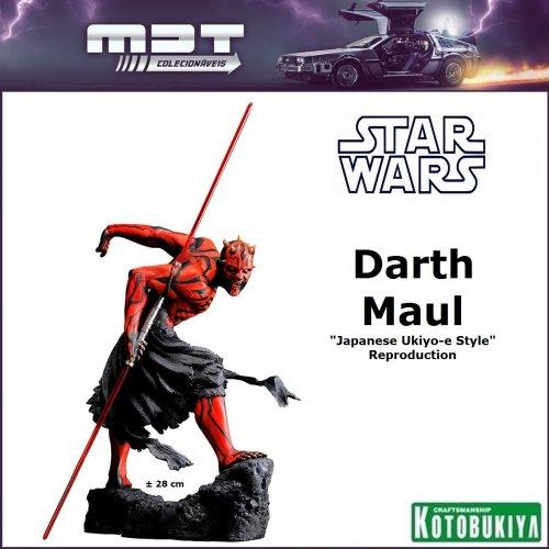 "Kotobukiya - Star Wars - Darth Maul ""Japanese Ukiyo-e Style"" Reproduction 1/7"