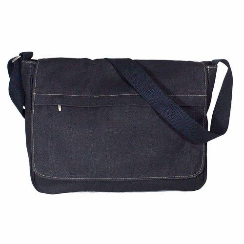 Bolsa Masculina de Lona Azul