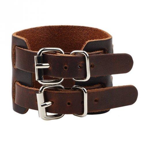 Bracelete de Couro Marrom