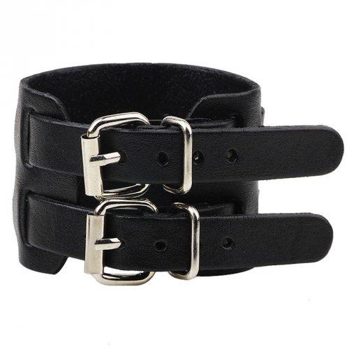 Bracelete de Couro Preto