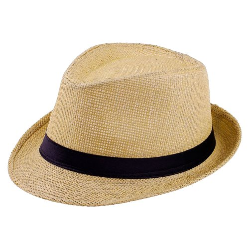 e9602ef7e5815 Chapéu Fedora de Palha Aba Curta