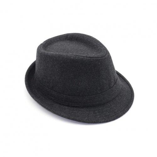 Chapéu Fedora Masculino Feltro de Lã Cinza Aba Curta d22301da028