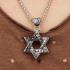 Miniatura - Corrente de Aço Pingente Estrela de Davi