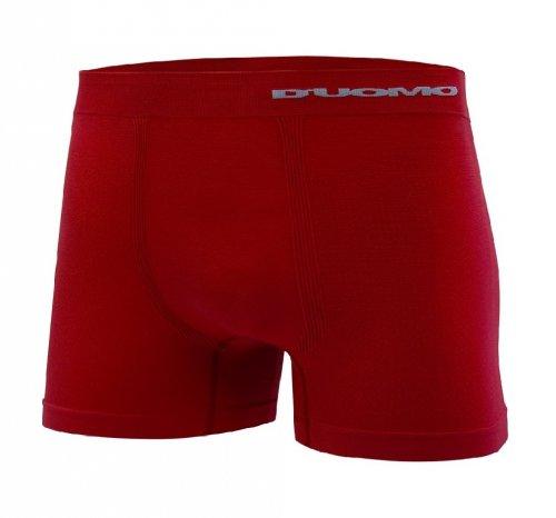 Cueca Boxer D'uomo Microfibra Efeito Dry Sem Costura Vermelha