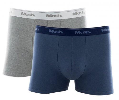 Kit Cueca Boxer Cotton Mash 2 Peças Azul Jeans e Cinza
