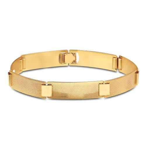 Pulseira Banhada a Ouro 18k - Mercado Masculino a7e2598e56