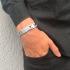 Miniatura - Pulseira Masculina de Aço Escovado