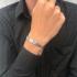 Miniatura - Pulseira Masculina de Aço Tóquio