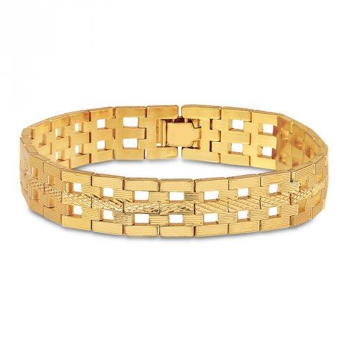 Pulseira Diamantada Banhada a Ouro 18k - Mercado Masculino 8fe7d9408a