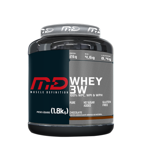 Whey Protein 3W 1,8Kg - MD Muscle Definition