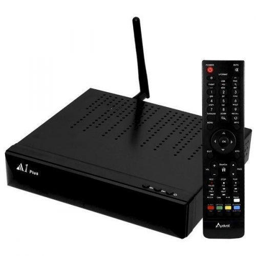 Receptor Audisat A1 Plus - Wi Fi / H.265 / IPTV IKS SKS - ACM