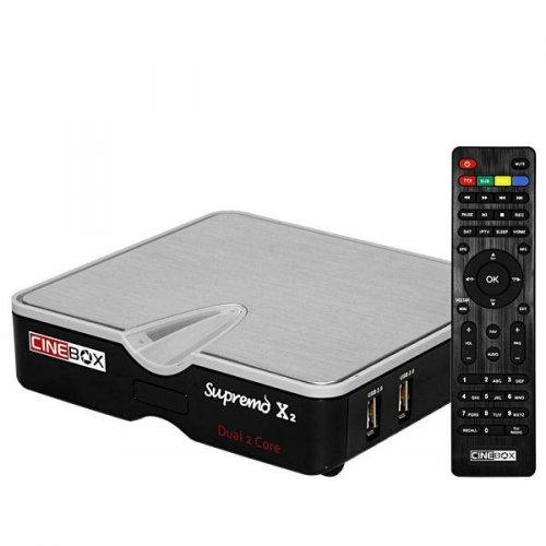 Receptor Cinebox Supremo x2 - Wi-Fi / IPTV IKS SKS - ACM