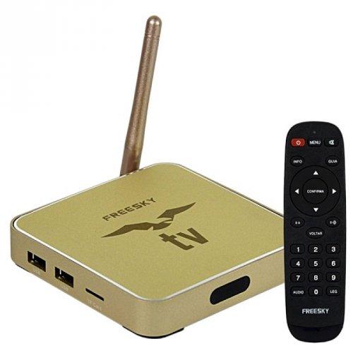 Receptor Freesky Ott Stream IPTV 4k - (Sem Antenas)