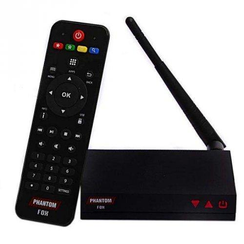 Receptor Phantom Fox HD Wi-Fi IPTV Linux / SEM ANTENAS