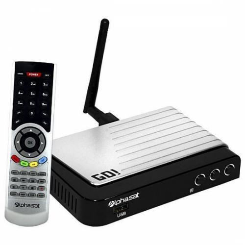 Receptor Alphasat GO / IKS-SKS-IPTV / Wi-Fi / ACM - ULTIMAS UNIDADES!