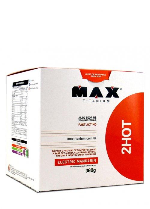 2HOT  Termogênico + Pre Treino (360g)  Max Titanium