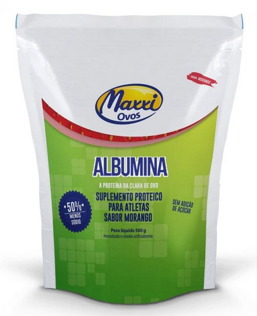 Albumina Pasteurizada (500g)  Maxxi Ovos