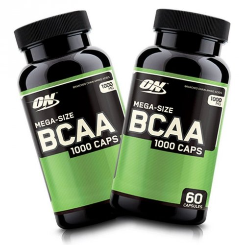 Kit  c/ 2 Frascos BCAA 1000 (60caps) Optimum Nutrition