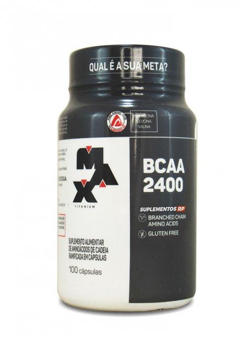 BCAA 2400 - 100 Cápsulas Max Titanium