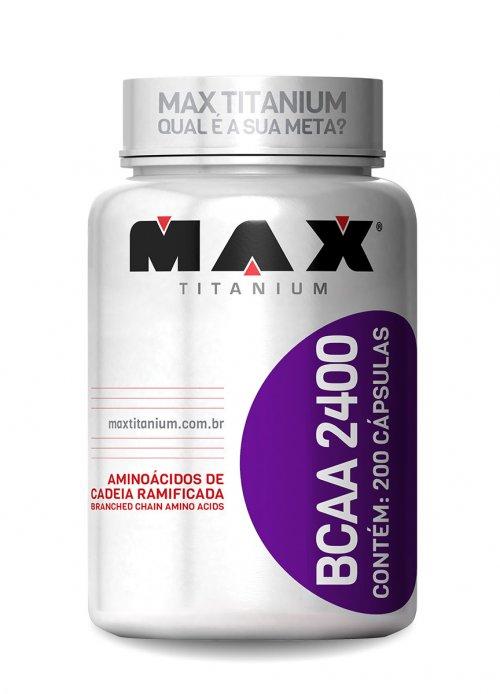 BCAA 2400 - 200 Cápsulas Max Titanium