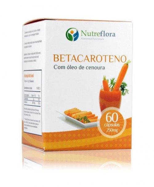 Betacaroteno (Óleo de Cenoura) -60 cáps. 250mg- Vitamina A