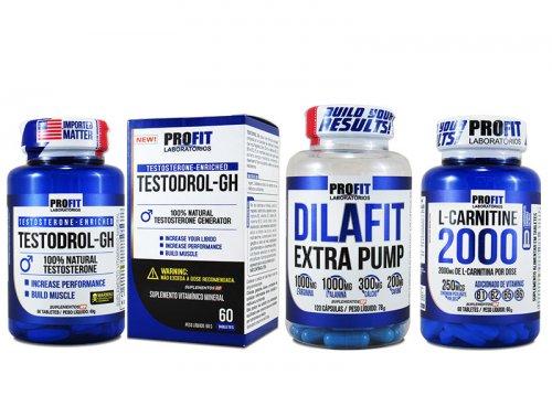 Ciclo Testosterona Seco & Vascularizado Testodrol GH + Dilafit + L-carnitina