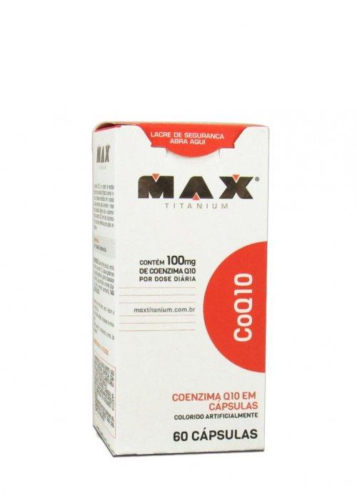 Coenzima Q10 - coq10 - 100mg - 60 Cápsulas - Max Titanium