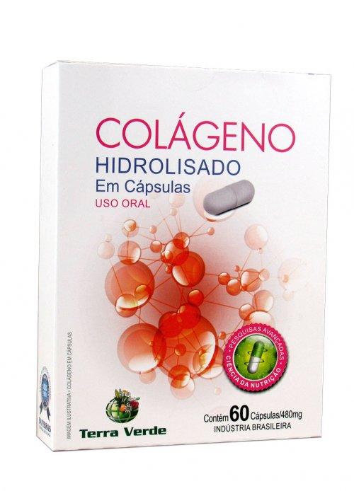 colágeno  Hidrolisado - 60 cáps - Terra Verde