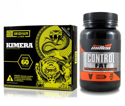 combo emagrece tira fome control fat + kimera