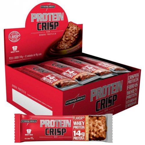 Protein Crisp Bar - Integralmédica  Caixa c/ 12 unidades