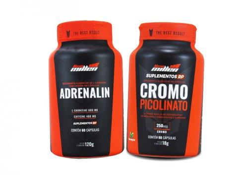 Kit emagrecimento:  Thermo Adrenalin +  picolinato de Cromo 250mcg
