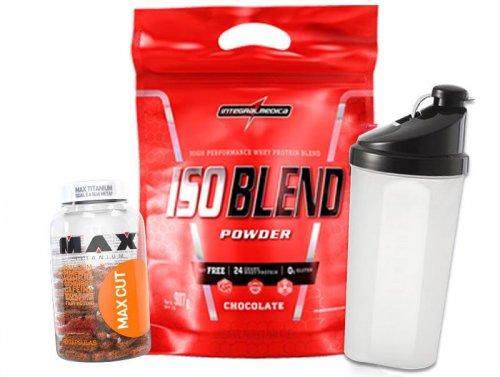 Kit Definição MAX CUT + ISO BLEND + Shaker
