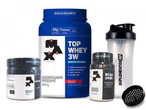 kit max 3 -  top whey + bcaa + creatina + Shakeira