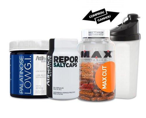 Kit Performance Bike Natação Corrida max cut + Palatinose + Repor Salt