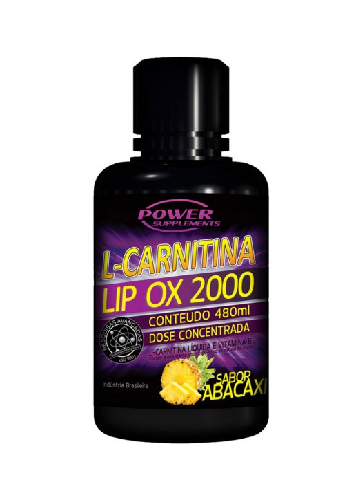 L-Carnitina Lip Ox 2000 - 480ml Abacaxi - Power Supplements