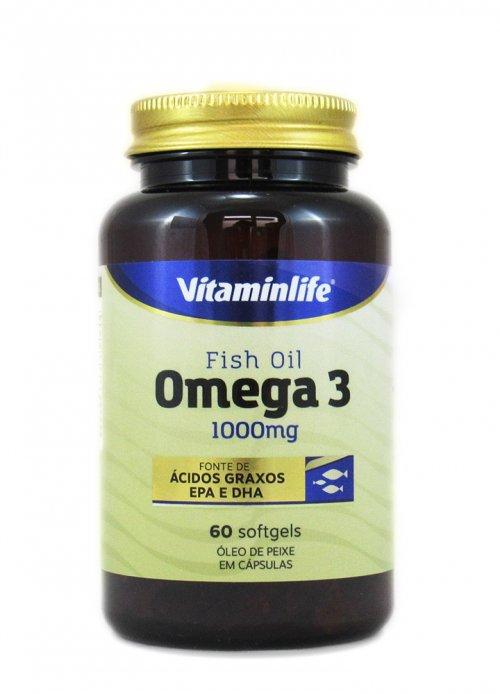 Ômega 3 - fish oil -1000mg  VitaminLife 60 cáps