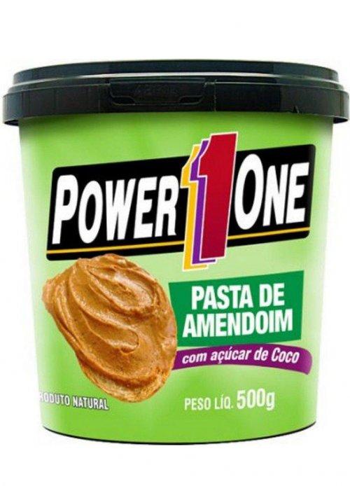 PASTA DE AMENDOIM C/ AÇÚCAR DE COCO (500g) POWER ONE