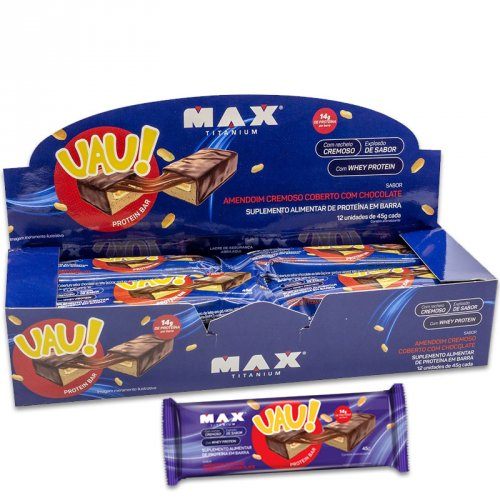UAU Protein Bar - Max Titanium Caixa c/ 12 x 45g