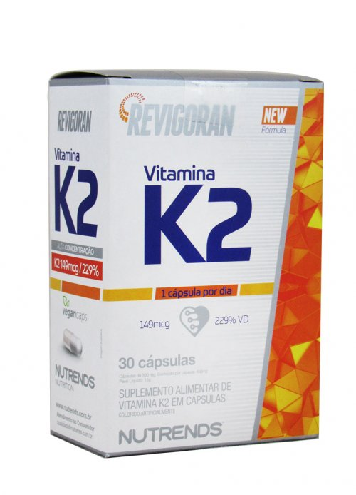 Vitamina K2 Mk7 Menaquinona - 30 Cápsulas