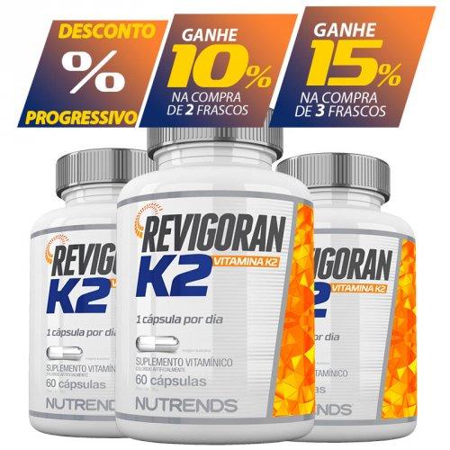 Vitamina K2 Mk7 Menaquinona - 60 Cápsulas