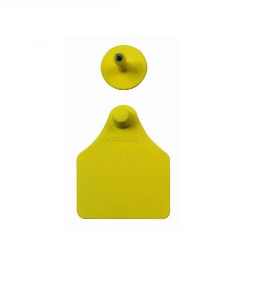 Brinco grande liso amarelo Zooflex - 25 unidades