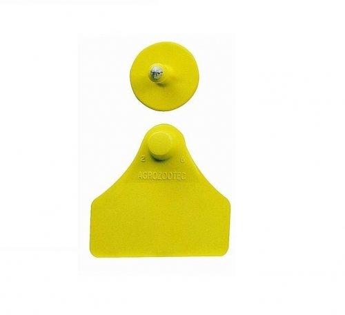 Brinco médio liso amarelo Zooflex - 25 unidades