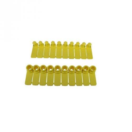 Brinco para ovinos, caprinos e suínos - Liso amarelo Zooflex - 50 unidades