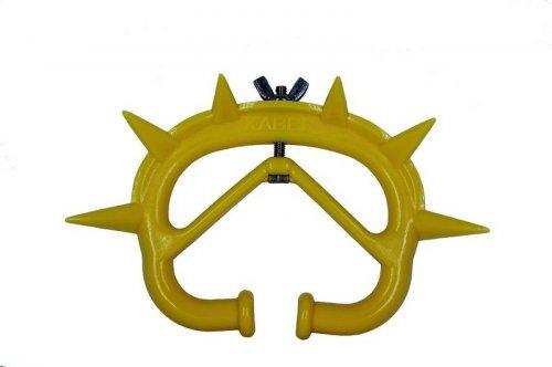 Desmamador plástico com regulagem de rosca Importado Amarelo - 12 unidades