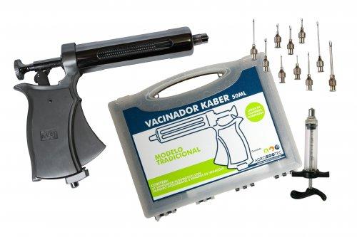 Kit Pistola de vacinação / seringa para vacinar gado com agulhas