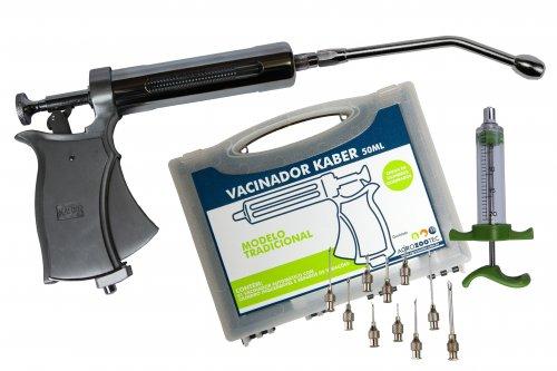 Kit Pistola de vacinação / seringa para vacinar gado com cânula e agulhas