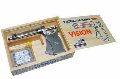 Pistola de vacinação / Seringa de vacinar gado - KIT Kaber Vision