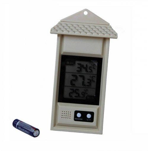 Termômetro de máxima, mínima e umidade - Digital